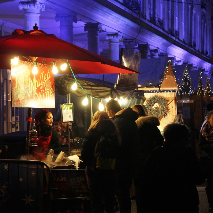 Mulled wine stands at Bath Christmas Market, look out for this sweet and comforting classic! © Mark Banham